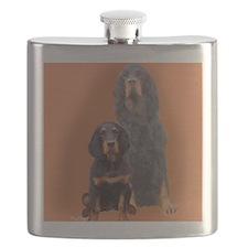 Gordon Setter Two Flask
