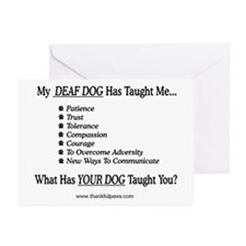 My Deaf Dog Taught Me Greeting Cards (Pk of 10