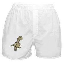 Dino Oil White Boxer Shorts
