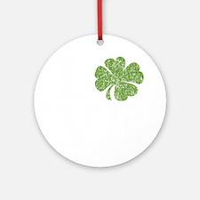 love_shamrock_white Round Ornament