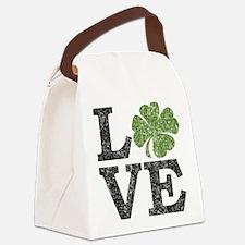 love_shamrock_black Canvas Lunch Bag