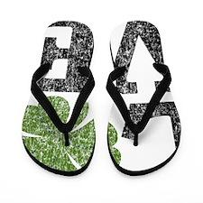 love_shamrock_black Flip Flops