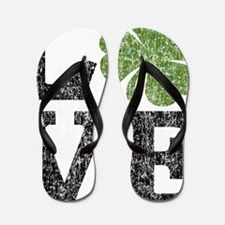love_shamrock_black Flip Flops