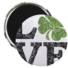 love_shamrock_black Magnet