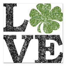 "love_shamrock_black Square Car Magnet 3"" x 3"""