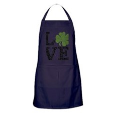 love_shamrock_black Apron (dark)