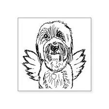 "BeardedAngel Square Sticker 3"" x 3"""