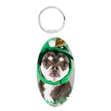 St. Patricks Day Dog Keychains