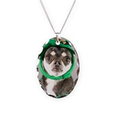 St. Patricks Day Dog Necklace Oval Charm