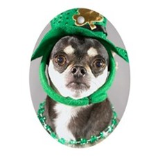 St. Patricks Day Dog Oval Ornament