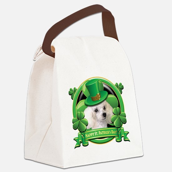 Happy St Patricks Day Poodle Canvas Lunch Bag