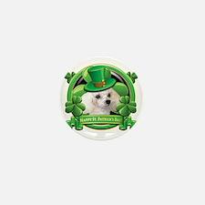 Happy St Patricks Day Poodle Mini Button