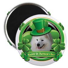 Happy St Patricks Day Samoyed Magnet