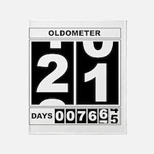 Oldometer 21 Throw Blanket