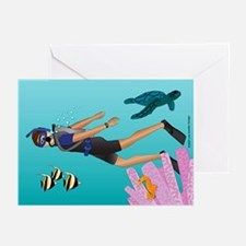 Scuba Scene Man (br) Greeting Cards (Packag