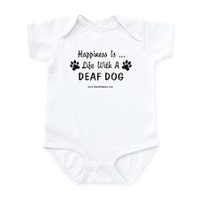 Life With a Deaf Dog Infant Bodysuit