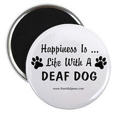 Life With a Deaf Dog Magnet