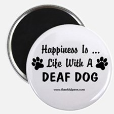 Life With a Deaf Dog Magnet