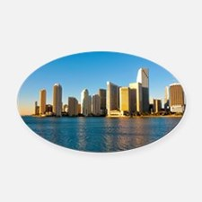 mouse pad_0087_miami3_postcard-2 Oval Car Magnet