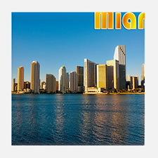mouse pad_0087_miami3_postcard-2 Tile Coaster