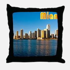 mouse pad_0087_miami3_postcard-2 Throw Pillow