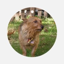 Australian Terrier Round Ornament