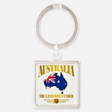 Land Down Under Square Keychain