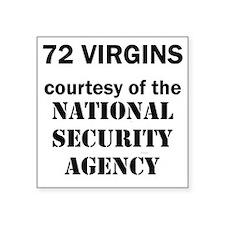 "Art_72 virgins_national sec Square Sticker 3"" x 3"""