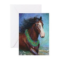 Jingle Bell Horse Greeting Cards