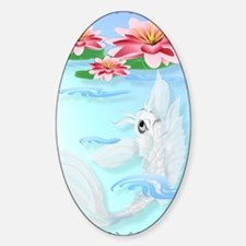 Silver Koi and Pink Lily Poster P Decal