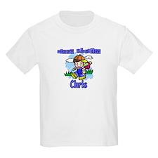 Happy Birthday Baseball Chris Kids T-Shirt