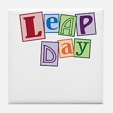 leap day baby_dark Tile Coaster