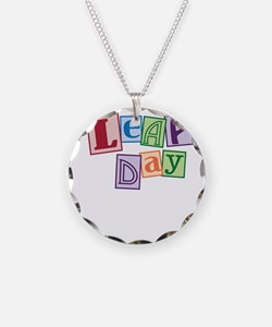 leap day baby_dark Necklace