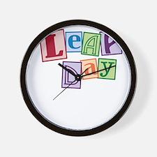 leap day baby_dark Wall Clock