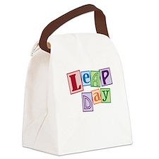 leap day baby_dark Canvas Lunch Bag