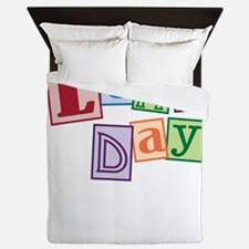 leap day baby_dark Queen Duvet