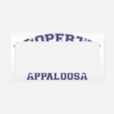 appaloosaproperty License Plate Holder