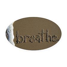breathe Oval Car Magnet