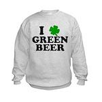 I Shamrock Green Beer Kids Sweatshirt