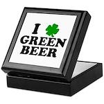 I Shamrock Green Beer Keepsake Box