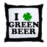 I Shamrock Green Beer Throw Pillow