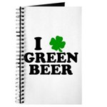 I Shamrock Green Beer Journal