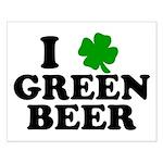 I Shamrock Green Beer Small Poster