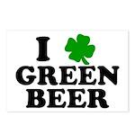 I Shamrock Green Beer Postcards (Package of 8)