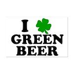 I Shamrock Green Beer Mini Poster Print
