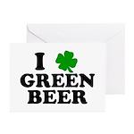 I Shamrock Green Beer Greeting Cards (Pk of 10