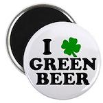 I Shamrock Green Beer Magnet