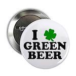 I Shamrock Green Beer Button