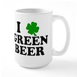 I Shamrock Green Beer Large Mug