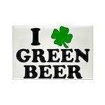I Shamrock Green Beer Rectangle Magnet (10 pack)